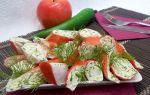 Фаршированные крабовые палочки разными начинками — рецепты с фото