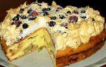 Пышный бисквит с фруктами рецепт с фото