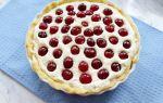 Пирог с черешней и творогом – рецепт с фото