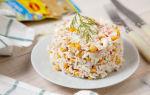 Салат с кукурузой, крабовыми палочками, яйцами и грибами рецепт с фото