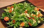 Салат с руколой, черри, курицей и сыром. рецепт с фото