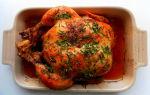 Курица с медом и соевым соусом целиком в духовке, рецепт с фото