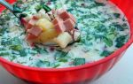 Окрошка на сыворотке с колбасой классическая, рецепт с фото