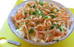 Салат с кальмарами и рисом рецепт с фото