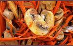 Морковь по-корейски с грибами, рецепт с фото