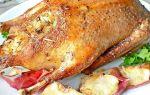 Утка с рисом и яблоками в духовке – рецепт фаршированной утки