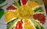 Салат ромашка с чипсами рецепт с фото