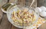 Салат с колбасой, сухариками и кукурузой рецепт с фото