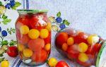 Маринованные помидоры с алычей рецепт с фото