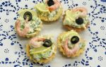 Тарталетки с креветками и оливками – рецепт с фото