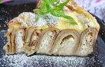 Блинный пирог с творожной начинкой рецепт с фото
