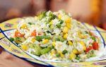 Рис с замороженными овощами рецепт с фото
