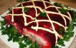Салат шуба в виде рулета рецепт с фото