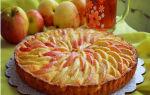 Открытый пирог с яблоками рецепт с фото