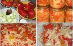 Салат из зеленых помидоров с морковью, перцем и цветной капустой на зиму рецепт с фото