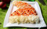 Салат «шапка дед мороза» со шпротами – рецепт с фото