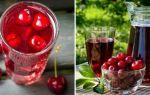 Компот из вишни с косточками на зиму, 2 рецепта вишневого компота с фото