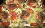 Курица с картошкой и кабачками в духовке, рецепт с фото