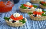 Тарталетки с красной икрой и лососем – рецепт с фото