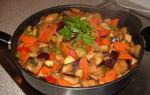 Овощное рагу с баклажанами и кабачками, рецепты с фото
