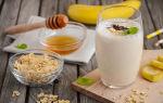 Смузи с бананом и овсянкой в блендере рецепт с фото