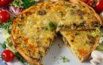 Лоранский пирог с курицей и грибами рецепт с фото