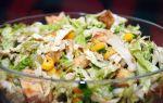 Салат из пекинской капусты с курицей и кукурузой – рецепт с фото