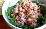 Салат из фасоли с консервированным тунцом рецепт с фото