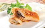 Блины с курицей и грибами: рецепт с фото, фаршированные блинчики