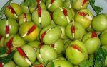 Маринованные фаршированные зеленые помидоры с чесноком на зиму рецепт с фото