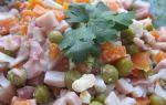 Салат с зеленым горошком на новый год рецепт с фото