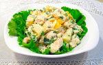 Салат с курицей, ананасами и грибами рецепты с фото