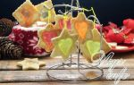 Новогоднее песочное печенье «битое стекло» на елку, рецепт с фото