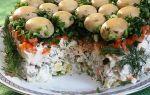 Салат грибок – шампиньоны, курица рецепт с фото