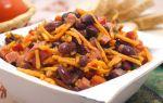 Салат с фасолью, кукурузой и корейской морковью, рецепт с фото