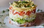 Салат с ветчиной, сыром и помидорами рецепт с фото