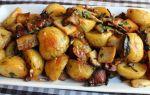 Картошка с грибами в духовке рецепт с фото