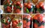 Сладкие черри на зиму, рецепт помидоров на литровую банку пошагово