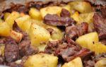 Баранина с картошкой в духовке, рецепт с фото