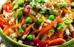 Овощной салат на новый год рецепт с фото