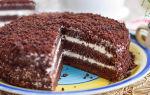 Шоколадный торт со сметанным кремом «звезда» рецепт с фото