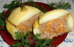 Фаршированные патиссоны в духовке с фаршем: пошаговый рецепт