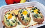 Шницель с яйцом из фарша рецепт с фото