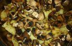 Молодая картошка с грибами в духовке рецепт с фото