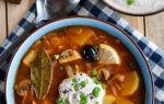 Суп солянка из квашеной капусты  — рецепт первого блюда с фото