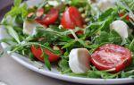 Салат с моцареллой, руколой и индейкой рецепт без майонеза