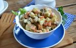 Оливье с грибами, вкусный рецепт салата с фото