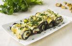 Рулетики из баклажанов с грецкими орехами и сыром, рецепт с фото