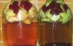 Компот из вишни и яблок на зиму, рецепт с фото