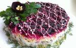Праздничный слоеный салат на новый год. скумбрия под шубой рецепт с фото